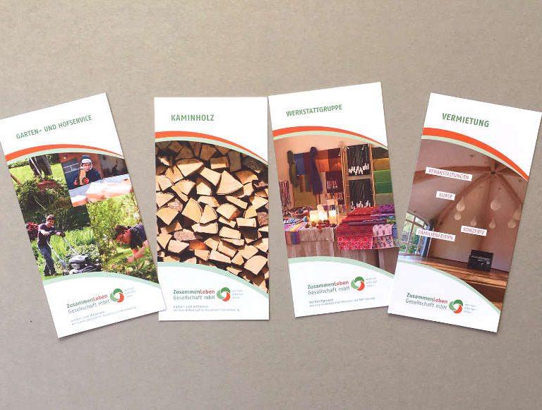 ulrikebahl-grafik-ZusammenLeben-Flyer-Sammlung