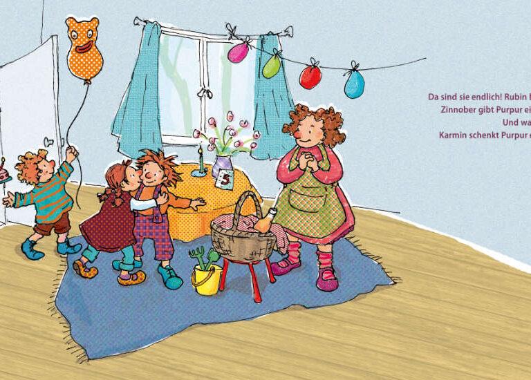 ulrikebahl-illustration-Bilderbuch-Inklusion-Geburtstagsgaeste