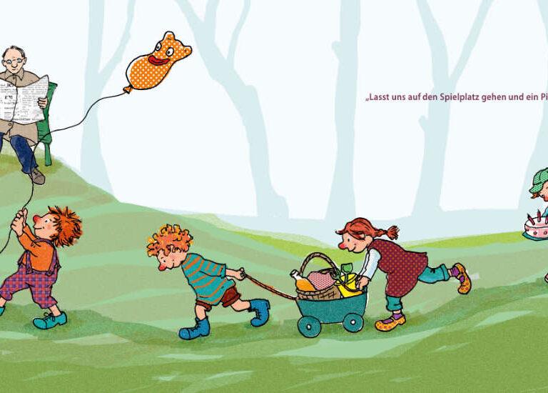 ulrikebahl-illustration-Bilderbuch-Inklusion-Picknick