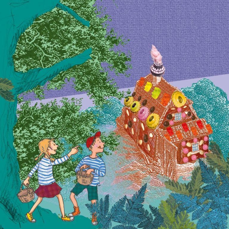 ulrikebahl-illustration-SWR-cover-HaenselundGretel