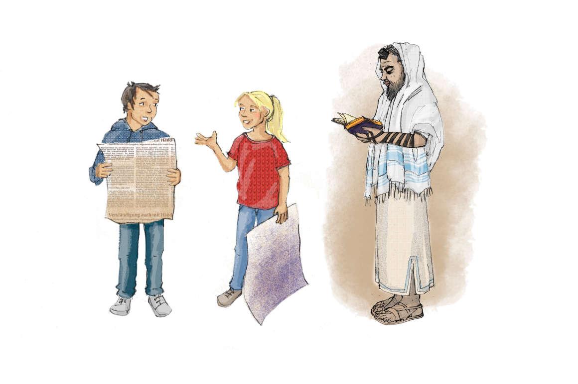 ulrikebahl-illustration-Schulbuch-Religion-Jude